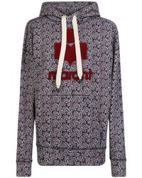 Étoile Isabel Marant - Floral Hooded Sweatshirt - Lyst