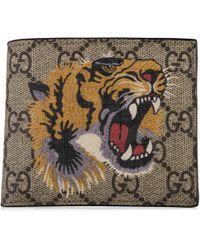 Gucci - Tiger Gg Wallet - Lyst