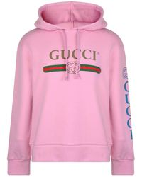 d8d9f70392d Lyst - Gucci Hooded Spaceship-appliqué Cotton Sweatshirt in Blue for Men