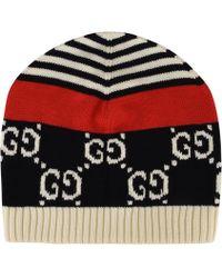 0fe2f8c84b6 Gucci Gg Diamond Beanie Hat in Blue for Men - Lyst
