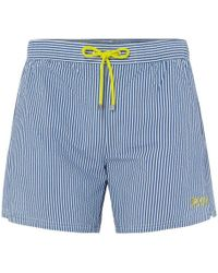 0e580fb2 Vilebrequin Modernist Fish Swim Trunks in Blue for Men - Lyst