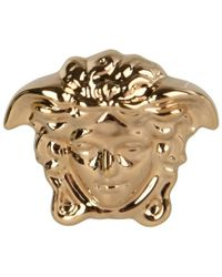 Versace Medusa Head Earrings - Metallic