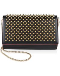 fb8679dfaa2 Christian Louboutin Paloma Clutch Bag in Black - Lyst