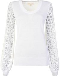 MICHAEL Michael Kors - Burn Out Sleeve Knitted Jumper - Lyst