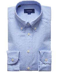 Eton of Sweden - Slim Fit Oxford Shirt - Lyst