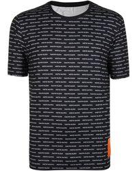 Calvin Klein - All Over Logo Print T-shirt - Lyst