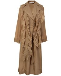 Victoria, Victoria Beckham - Silk Trench Coat - Lyst