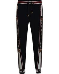 eb888f07681 Dolce   Gabbana King Tape Jogging Bottoms in Black for Men - Lyst