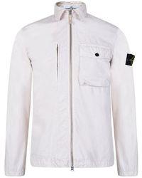 Stone Island - Dyed Canvas Overshirt Jacket - Lyst