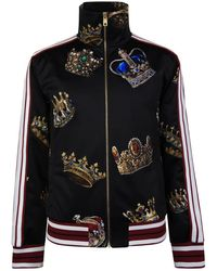 Dolce & Gabbana - King Crown Track Jacket - Lyst