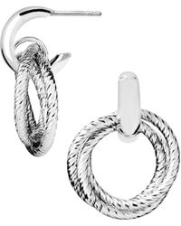 Links of London - Aurora Cluster Hoop Earring - Lyst