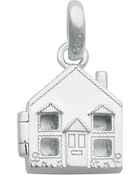 Links of London - Silver Robin And House Charm - Lyst