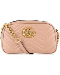 Gucci W Gg Marmont 2.0 Bag in Purple - Lyst f5a11e63fab69