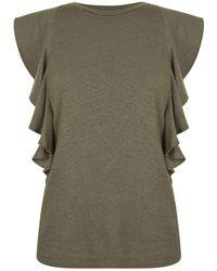 BOSS Orange - Ruffle T Shirt - Lyst