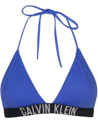 CALVIN KLEIN 205W39NYC - Intense Triangle Bikini Top - Lyst