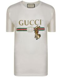 319c75149136 Gucci Fake Logo T-shirt in White for Men - Lyst