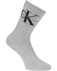 Calvin Klein - Jeans Logo Ankle Socks - Lyst