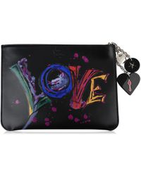 Christian Louboutin - Loubicute Embellished Printed Leather Pouch - Lyst