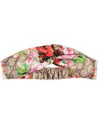 Gucci - Blooms Print Headband - Lyst
