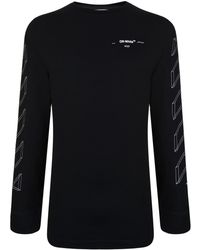 583f311a51cb Lyst - Off-White c/o Virgil Abloh Brushed Lines Long-sleeve Graphic ...