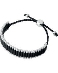 Links of London - Friendship Sterling Silver And Black Cord Bracelet - Lyst