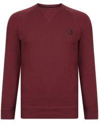 BOSS Orange - Wyan French Terry Logo Patch Sweatshirt - Lyst