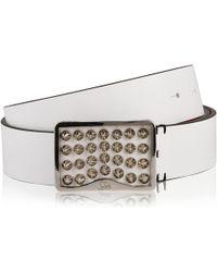 Christian Louboutin - Spike Leather Belt - Lyst