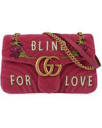 Gucci - Blind For Love Marmont Shoulder Bag - Lyst