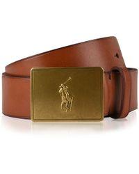 Polo Ralph Lauren - Plaque Leather Belt - Lyst