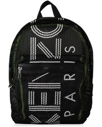 KENZO Logo Mesh Backpack - Black