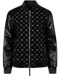 Giuseppe Zanotti - Logo Leather Bomber Jacket - Lyst