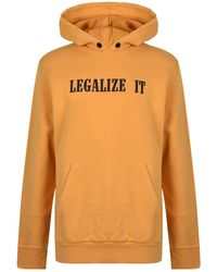 Palm Angels - Legalize Hooded Sweatshirt - Lyst