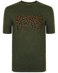 BBCICECREAM Leopard Logo T Shirt - Green