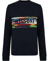 Missoni - Logo Band Sweatshirt - Lyst