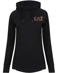 EA7 - Hooded Sweatshirt - Lyst