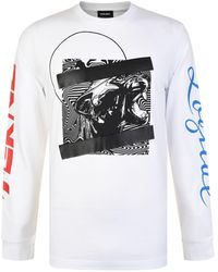 DIESEL - Graphic Long Sleeved T Shirt - Lyst