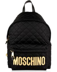 Moschino - Quilted Large Backpack - Lyst