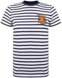 Polo Ralph Lauren Stripe Logo Short Sleeved T Shirt - White
