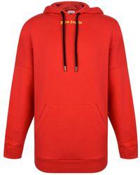 Palm Angels - Over The Head Logo Hooded Sweatshirt - Lyst