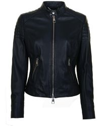 BOSS Orange - Junique Leather Jacket - Lyst