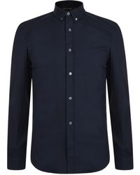 French Connection - Long Sleeve Oxford Shirt - Lyst