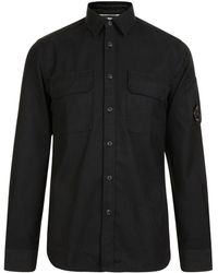 C P Company - Lens Long Sleeved Shirt - Lyst