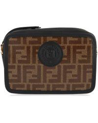 a6ec55fdecef Fendi - Logo Printed Canvas   Leather Camera Bag - Lyst