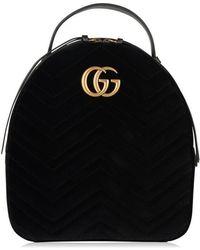 Gucci - Velvet Marmont Backpack - Lyst