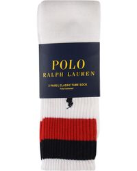 Polo Ralph Lauren - Three Pack Cushioned Tube Socks - Lyst