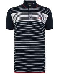BOSS Green - Paddy Striped Polo Shirt - Lyst