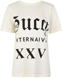 fbdf5be04 Gucci Paramount Oversized Cotton T Shirt in Blue - Lyst
