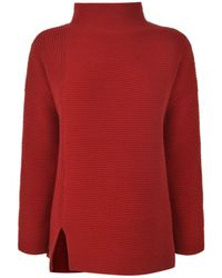 French Connection - Ribbed High Neck Jumper - Lyst