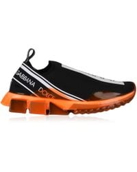 Dolce & Gabbana - Black Neon Sole Knitted Sock Trainers - Lyst