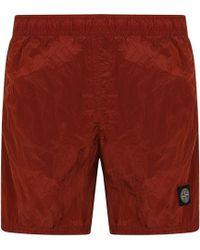 Stone Island - Metallic Swim Shorts - Lyst